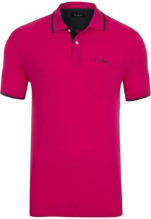 Polo Piquet Com Bolso Pink
