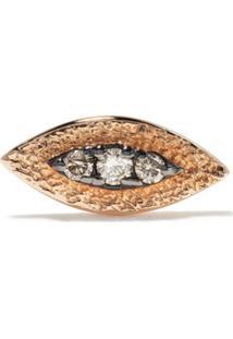 Kismet By Milka Brinco Único Evil Eye De Ouro Rosé 14K Com Diamante - Rose Gold