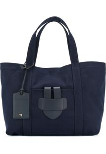 Tila March Bolsa Tote Grande 'Simple' - Azul