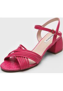 Sandã¡Lia Bebec㪠Transpasse Pink - Pink - Feminino - Sintã©Tico - Dafiti