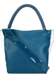 Bolsa Petite Jolie Shopper City Bag Feminina - Feminino-Azul