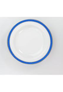 Conjunto De Pratos Fundos Porcelana Schmidt 06 Peças - Dec. Júlia