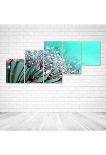 Quadro Decorativo - Dew Drops On Dandelion Seeds - Composto De 5 Quadros - Multicolorido - Dafiti