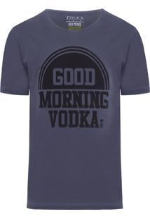 Camiseta Masculina Morning Vodka - Cinza