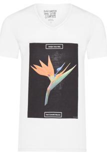 Camiseta Masculina Feeling Flower - Branco