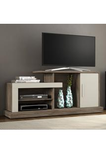 Rack Para Tv Até 43 Polegadas 1 Porta Lottus Canela/Areia - Notavel