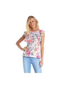 T-Shirt Riccieri Babado Floral
