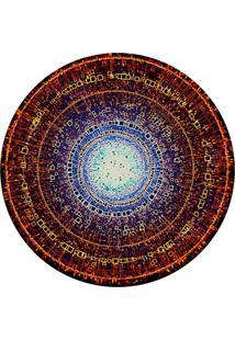 Tapete Love Decor Redondo Wevans Abstrato Ponto De Luz Multicolorido 84Cm