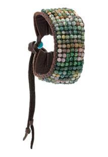 Stormie Bracelete Com Contas - Marrom