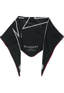 Givenchy Echarpe Com Estampa Preto E Branco