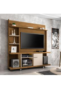 Estante Para Home Theater E Tv Até 47 Polegadas Taurus Cinamomo E Off White