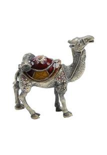 Porta Jóia Camelo Em Zamac 9,5 X 3 X 9,5 Cm - Unissex