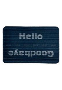 Capacho Carpet Goobaye/Hello Azul Único Love Decor
