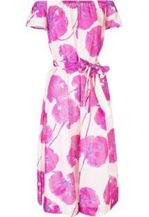 Diane Von Furstenberg Macacão Ombro A Ombro Floral - Rosa