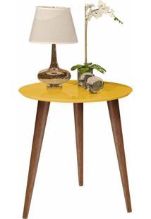 Mesa De Apoio Retrô Cissa - Amarelo Brilho - Compre Aqui