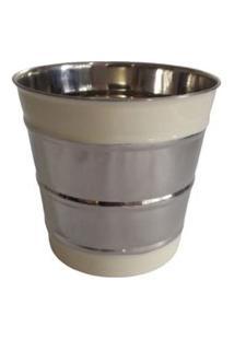 Balde De Gelo Gr Aluminio Esmalte Branco