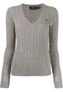 Polo Ralph Lauren Classic Knitted Jumper - Cinza