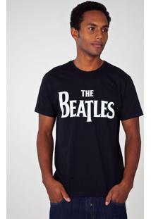 Camiseta Bandup! Band The Beatles Preta
