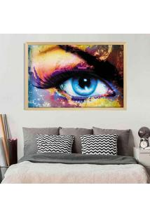Quadro Com Moldura Seductive Look Madeira Clara - Mã©Dio - Multicolorido - Dafiti