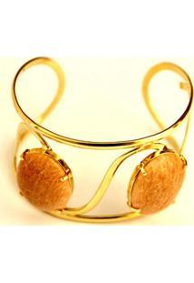 Bracelete 02 Pedras Feldspato Twik