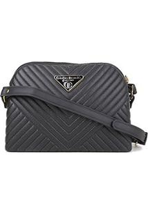 Bolsa Giulia Bardô Mini Bag Transversal Matelassê Feminina - Feminino-Preto