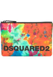 Dsquared2 Carteira Com Estampa Tie Dye - Laranja