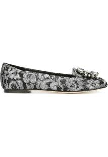 Dolce & Gabbana Slipper De Couro - Preto