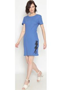 Vestido Canelado ''Zoomp''- Azul Escuro Preto- Zoozoomp