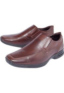 Sapato Social Valecci Elástico Marrom