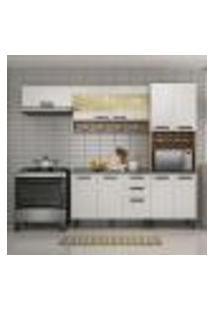 Cozinha Compacta New Jazz I 10 Pt 2 Gv Off White E Freijó