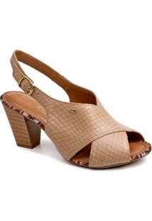 Sandália Dakota Tiras Cruzadas - Feminino-Bege