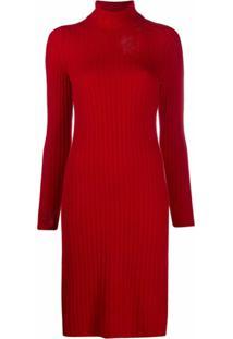 Maison Margiela Vestido De Tricô Com Efeito Destroyed - Vermelho