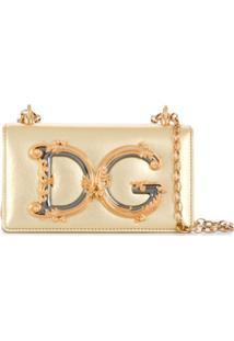 Dolce & Gabbana Bolsa Transversal Dg Girls - Dourado
