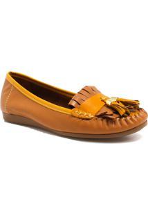 Sapato Mocassim Zariff Shoes Barbicacho Marrom