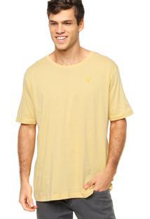Camiseta Manga Curta Vr Lisa Amarela