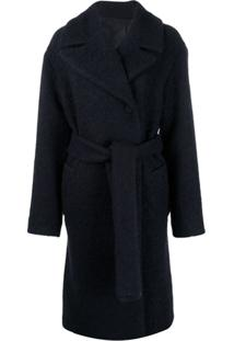Victoria Victoria Beckham Boucle Belted Coat - Azul