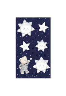 Adesivos De Parede Urso Nas Estrelas Poá Azul Gráo De Gente Azul