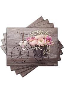 Jogo Americano - Flores Com 4 Peças - 377Jo