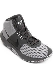 Tênis Cano Alto Nike Air Precision Masculino - Masculino-Chumbo+Cinza