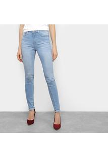 Calça Jeans Calvin Klein Super Skinny Feminina - Feminino-Azul Claro