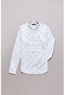 Camisa Reserva Enxuto Fraktur Masculina - Masculino-Branco