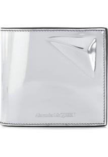 Alexander Mcqueen Carteira 3D Prism - Prateado
