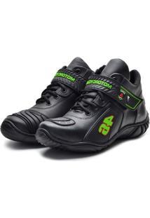 Bota Coturno Masculino Atron Shoes - Unissex-Preto
