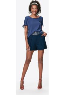Blusa Lisa- Azul Marinho- Malweemalwee