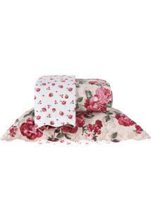 Kit Cobre Leito Queen Dupla Face Com Porta Travesseiro Ultra Lisse - Amalia