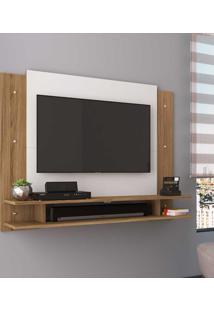Painel Para Tv Até 32 Polegadas Com Nicho Ps300 Naturalle/Branco - Decibal Móveis