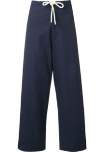 Sara Lanzi Drawstring Waist Trousers - Azul