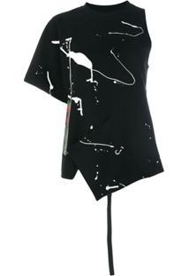 Proenza Schouler Blusa Assimétrica Estampada - Preto