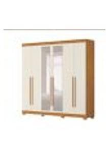 Guarda-Roupa Casal Com Espelho Belem 6 Pt 4 Gv Carvalho E Off White