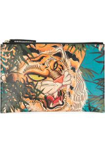 Dsquared2 Clutch Com Estampa De Tigre - Verde